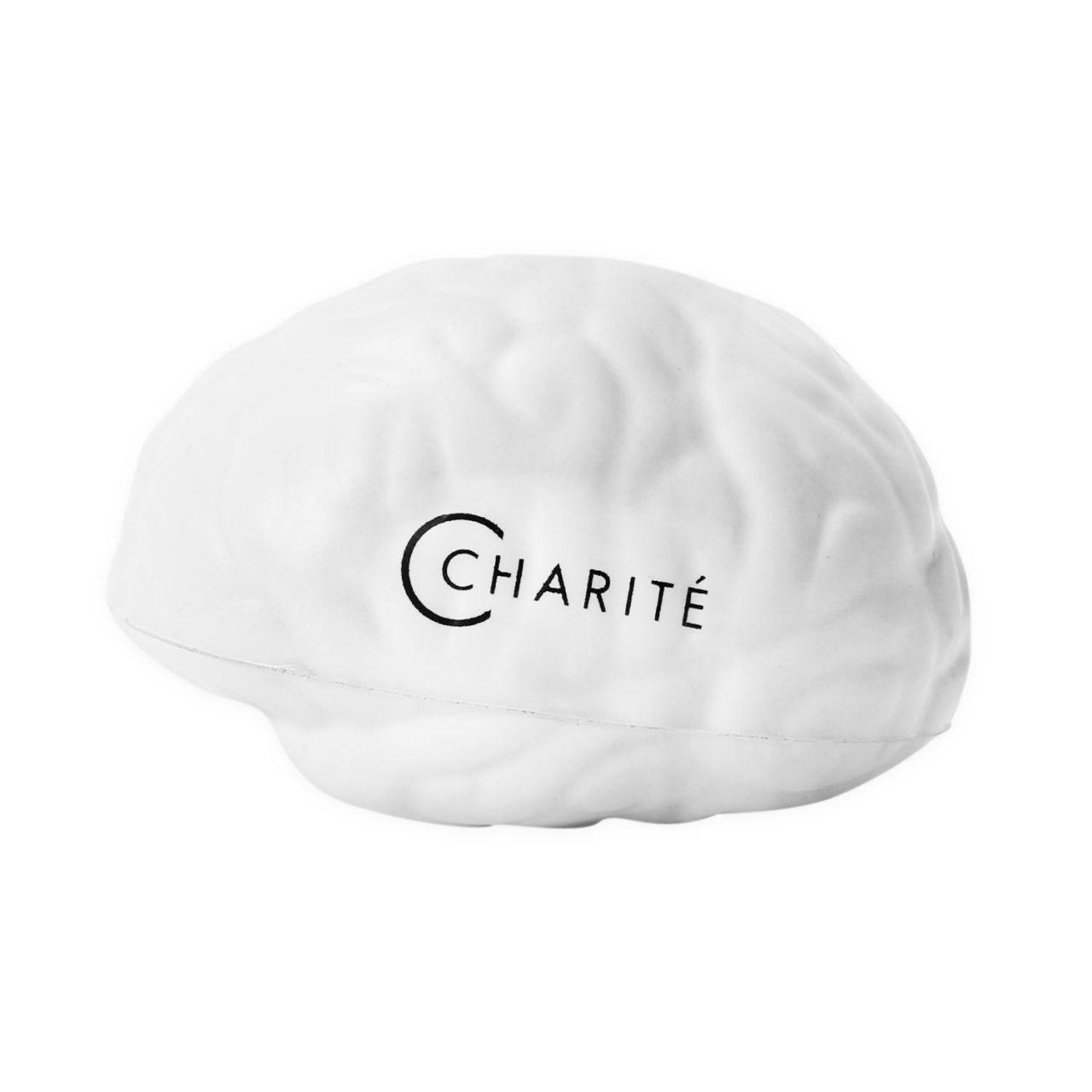Anti-Stress-Gehirn, grau, Charité-Logo