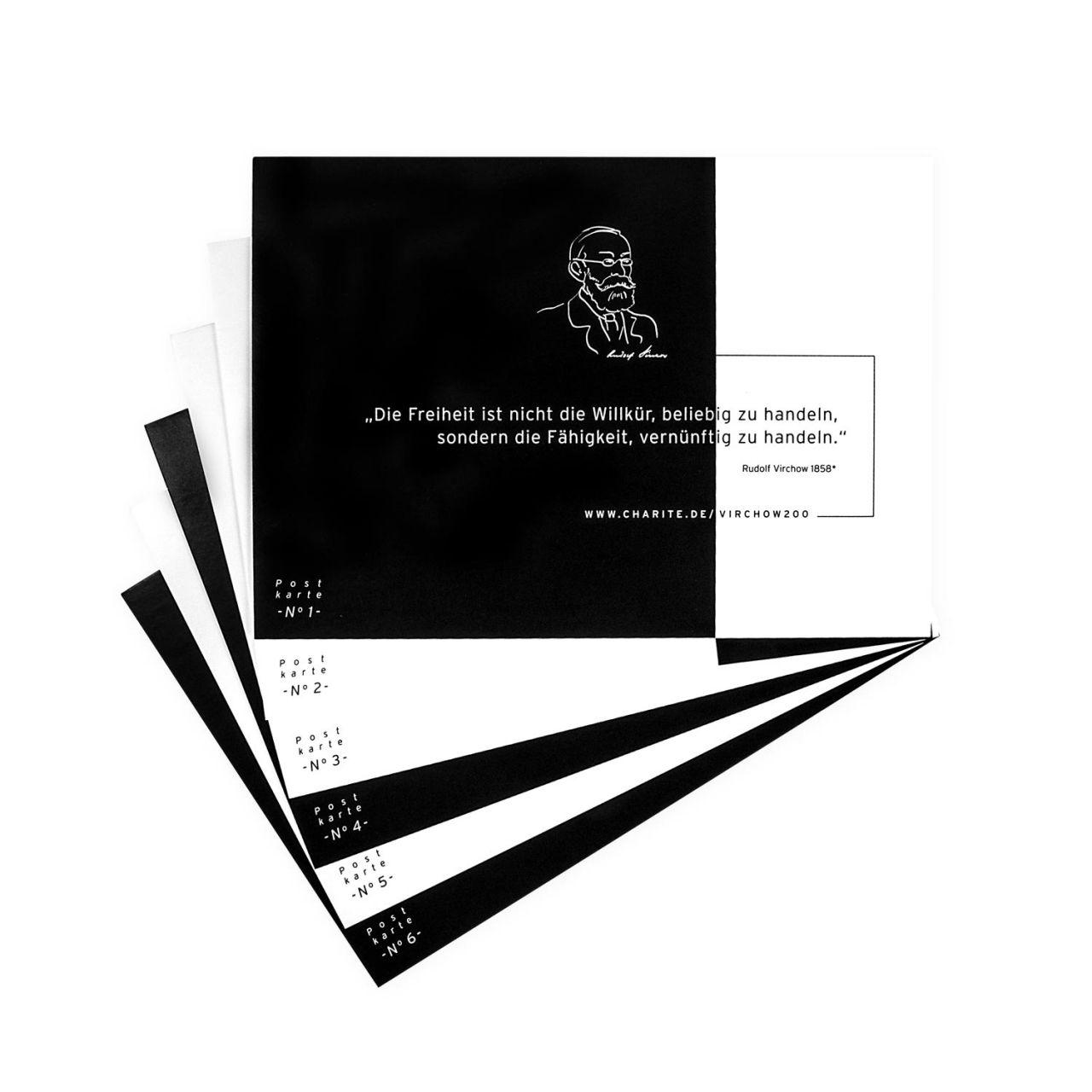 Postkartenset mit Originalzitaten, Rudolf Virchow
